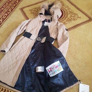 moncler jacket fox fur hoodie  trench coat